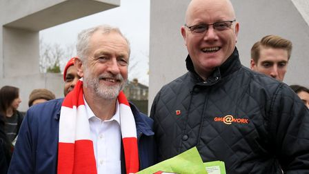 Labour leader and Arsenal supporter Jeremy Corbyn pictured at the Emirates Stadium in 2015. Picture: