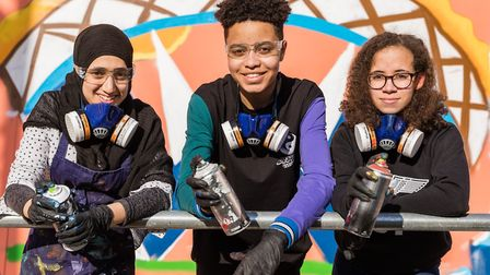 Pupils from Ark Academy helped make a 40ft mural in Wembley Park ( Chris Winter / Wembley Park)