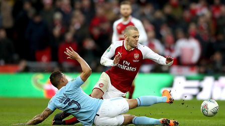 Injury worries remain over Arsenal's Jack Wilshere ahead of Stoke City clash (pic: Nick Potts/PA)