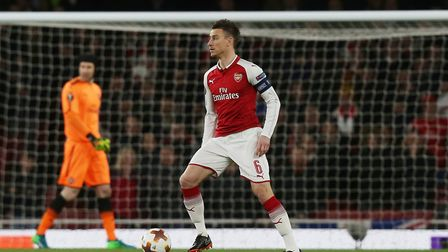 Laurent Koscielny of Arsenal in the UEFA Europa League game between Arsenal v CSKA Moscow at the Emi