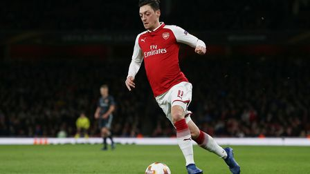 Mesut Özil of Arsenal in the UEFA Europa League game between Arsenal v CSKA Moscow at the Emirates S