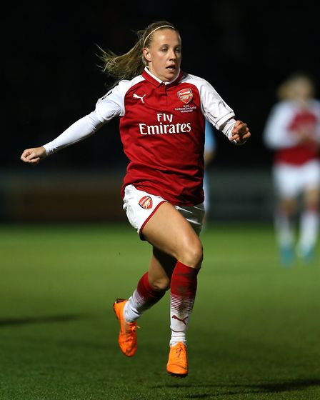 Arsenal Women's Beth Mead netted their winner against Manchester City (pic Nigel French/PA)