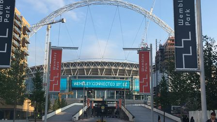 Wembley Stadium and the Pedway leading up to it Picture: Nathalie Raffray