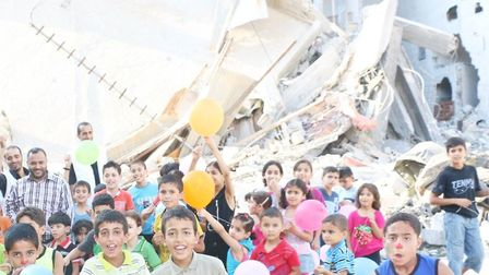 A comedy night in aid of the Fridays of Joy project in Gaza Picture: Palestine Trauma Centr