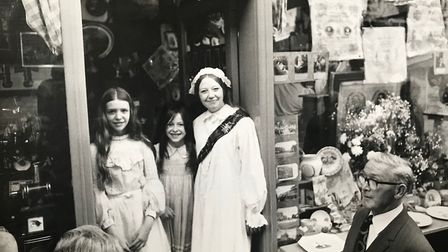 Beryl Vosburgh outside Jubilee in 1972 with daughters Lizzie (left) and Tilly (middle). Picture: Fam