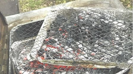 Barbecue trays left in Higbury Place last year. Picture: TIM SAYER