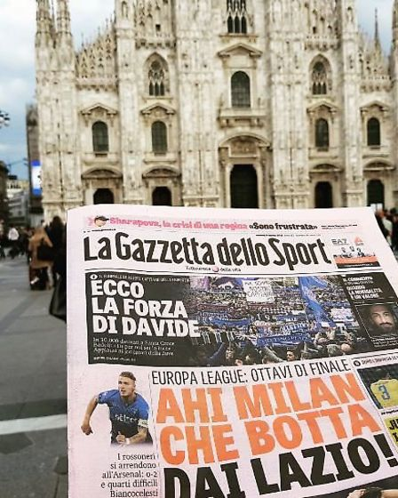 The morning after the night before. The front page of the Gazzetta dello Sport after Arsenal's stunn