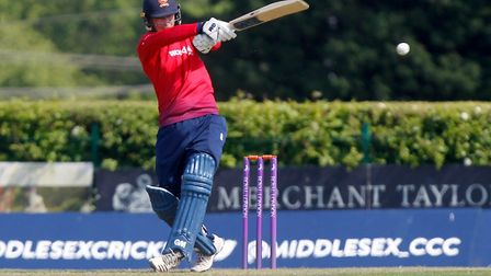 Tom Westley of Essex in batting action against Middlesex (pic Nick Wood/TGS Photo)