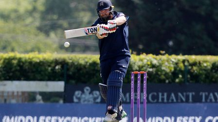 Paul Stirling of Middlesex in batting action (pic Nick Wood/TGS Photo)