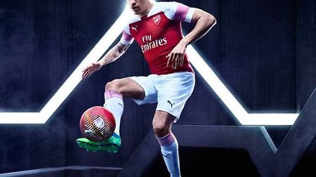 Hector Bellerin in the new Arsenal kit for 2018-19. CREDIT: ARSENAL FC