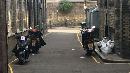 Mopeds are often left in the road, neighbours say.