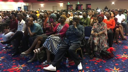 The audience at Kilburn's Ruach City Church for Jamaican prime minister Andrew Holness. Picture: Fra