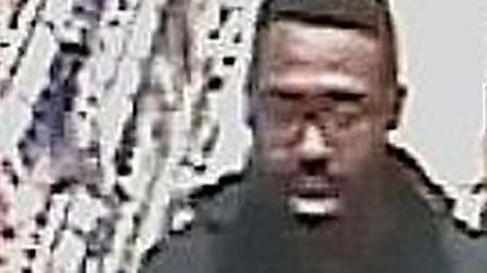 Police want to speak to this man over the shoplifting at Tesco. Picture: Met Police