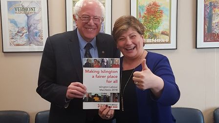 Emily Thornberry was back on the Islington Council campaign trail this month... with 2016 Democratic