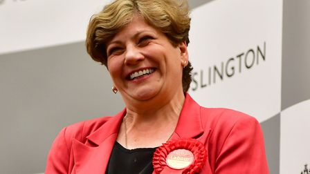 Emily Thornberry celebrates her 20,263 majority at last year's general election: 15 years after she