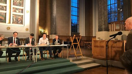 A question from the floor at the Gazette's local elections hustings at St Mary's Church. Picture: Ca