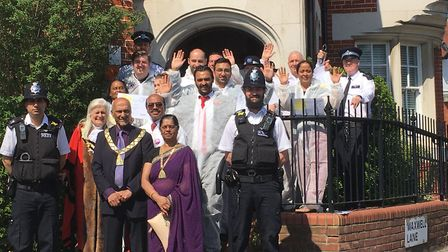 St Luke's jail birds who raised more than £8,000 for the hospice