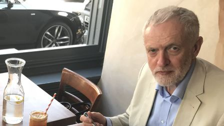 Speaking to the Gazette at the opening of Acoustic in Stoke Newington on Friday, Jeremy Corbyn blast