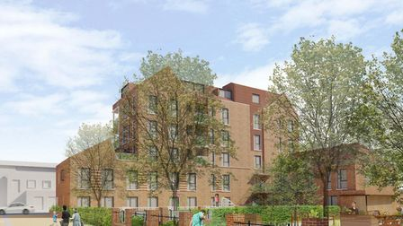 An artist's impression of the rear of the new block in the Wedmore Estate. Picture: Burrell Foley Fi