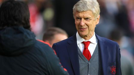 Arsenal manager Arsene Wenger before kick-off (pic Adam Davy/PA)