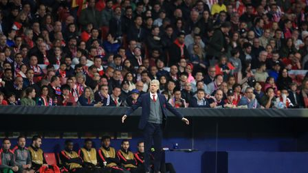 Arsenal manager Arsene Wenger gestures on the touchline (pic Adam Davy/PA)