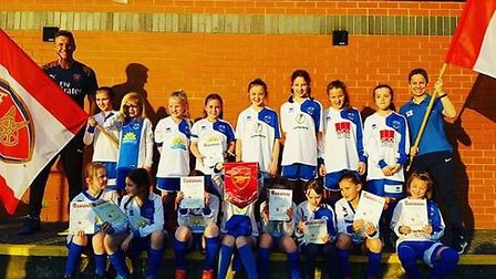 Arsenal sister club Hitchin Belles have strong links with the North London giants. CREDIT @laythy29
