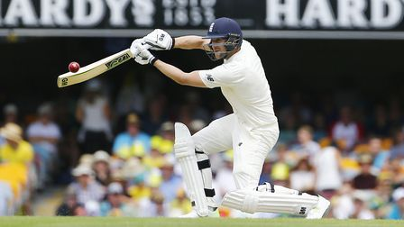 England's Dawid Malan plays a shot during day two of the Ashes Test match at The Gabba (pic Jason O'