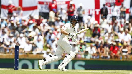 England's Dawid Malan plays a shot during day two of the Ashes Test at the WACA Ground, Perth (pic J