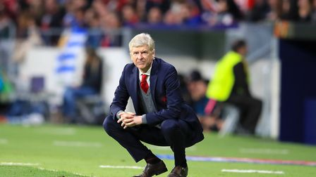 Arsenal manager Arsene Wenger looks on from the touchline (pic Adam Davy/PA)