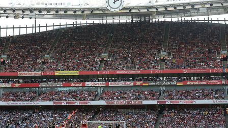 A general view of the match action at the Emirates Stadium (pic Mark Kerton/PA)
