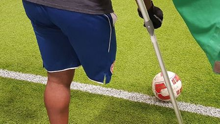 The Hub hosts the Arsenal Disability side. Credit @laythy29 Twitter