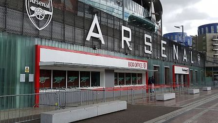 The Arsenal Hub is situated yards from the Emirates. Credit @laythy29 Twitter