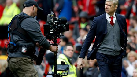 Arsenal manager Arsene Wenger after the final whistle (pic Martin Rickett/PA)