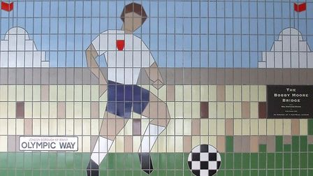 World Cup tile mural in Wembley Park (Picture: Wembley History Society and Brent Archives)