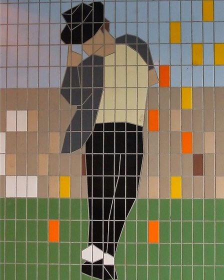 Michael Jackson tile mural in Wembley Park (Picture: Wembley History Society and Brent Archives)