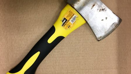 Axe found in 14-year-old boy's trousers (Picture: MPSKilburn)