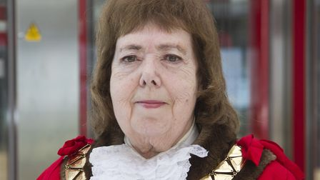 Cllr Lesley Jones pictured in 2015 during her inauguration as mayor of Brent. Picture: Gerard Farrel