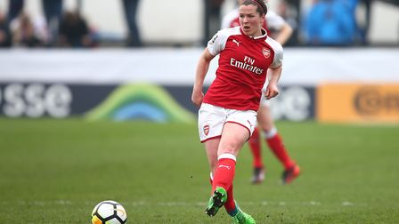 Arsenal Women's Emma Mitchell during the SSE Women's FA Cup Semi Final match at the Marine Travel Ar