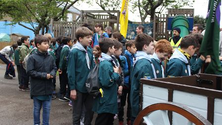 5th Islington Scout Group set out on their anniversary hike. Picture: Lindsay Riley