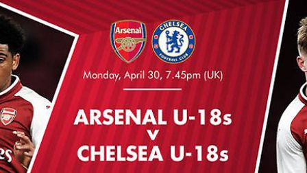 Arsenal U18s hosted Chelsea U18s in FA Youth Cup Final. CREDIT: ARSENAL FC