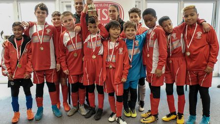 Wembley FC, under 10s champions of the Brent Super Cup 2018 (Picture: Cllr Zaffar Van Kalwala)