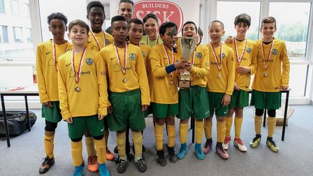 AFC Wembley, under 12s champions of the Brent Super Cup 2018 (Picture: Cllr Zaffar Van Kalwala)