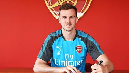 Rob Holding has signed a new contract with Arsenal. CREDIT: Arsenal FC