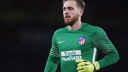 Jan Oblak of Atlético Madrid in the UEFA Europa League game between Arsenal v Atlético Madrid at the