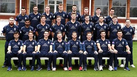 The Middlesex team group in their Royal London One-Day Cup kit (pic John Walton/PA)
