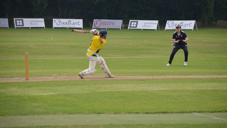 North London women's Maia Harris blazes another boundary on her way to an unbeaten 90 (pic: Stephen
