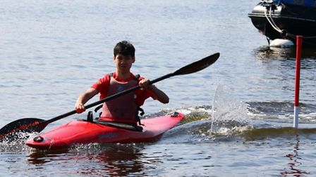 Dylan Gregory took junior male kayak slalom gold for Islington at the London Youth Games (pic: Bette
