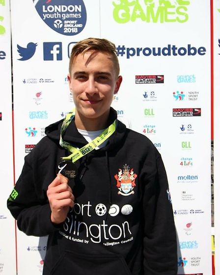 Oliver Pryce took senior male kayak slalom silver for Islington at the London Youth Games (pic: Bett