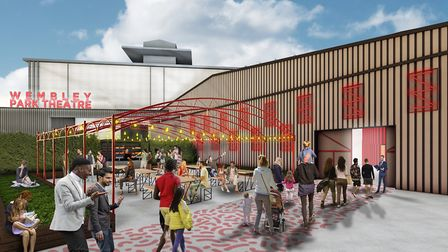 The new Wembley Park Troubadour theatre, which will take the old Fountain Studios site
