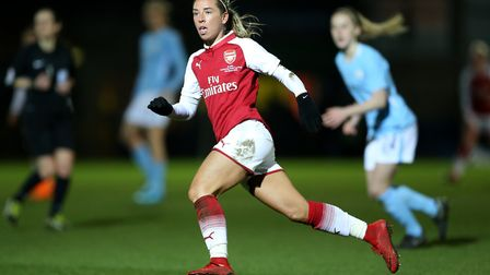 Arsenal Women's Jordan Nobbs in action against Manchester City (pic Nigel French/PA)